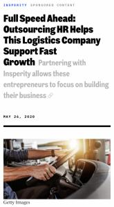 Inc.com magazine featuring Boa